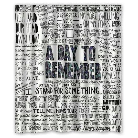 ADTR Band Album Title A Day To Remember Shower Curtain