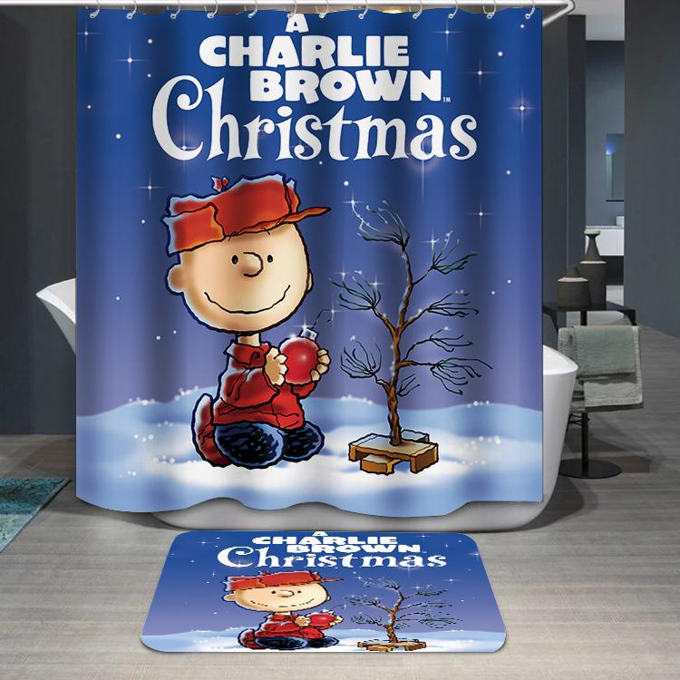 A Charlie Brown Christmas Peanuts Shower Curtain
