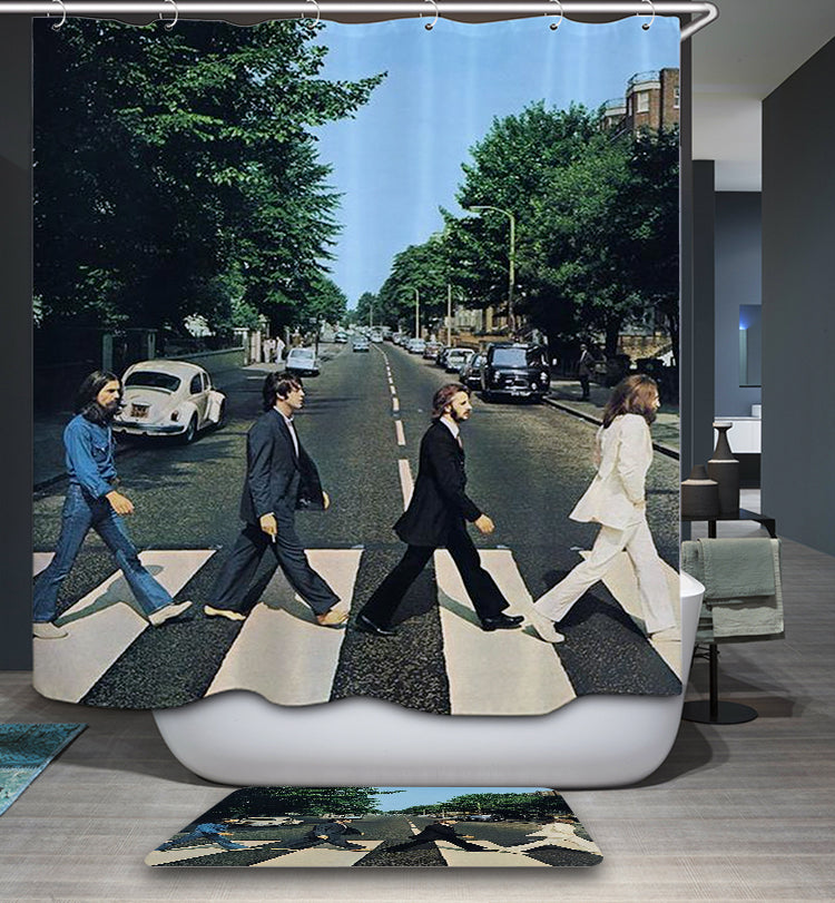 Abbey Road Album Poster Beatles Shower Curtain