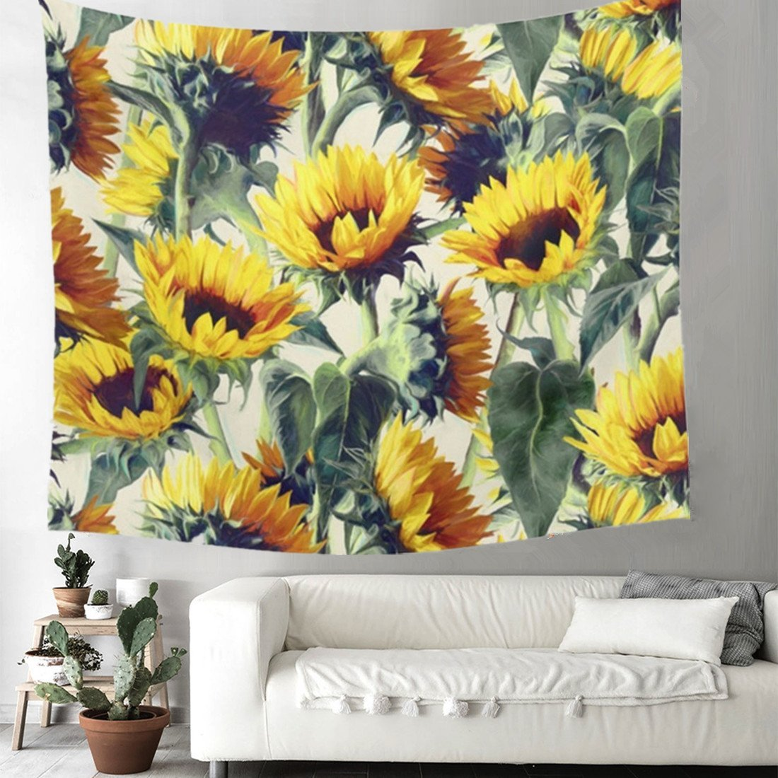 Abstract Daisy Sunflower Dorm Wall Tapestry