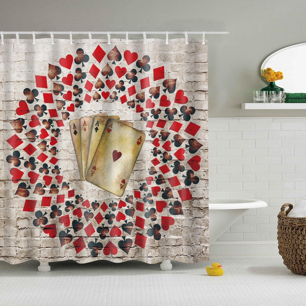 Ace Poker Playing Card Shower Curtain