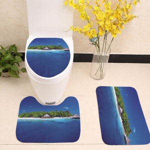 Aerial Photo Beach Coast Island Toilet Seat Cover