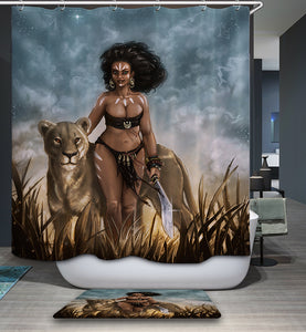 African Tribal Warrior Princess Shower Curtain