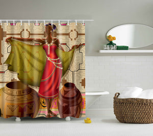 Ancient African Women Lifestyle Shower Curtain