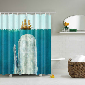 Ancient Boat The Whale Shower Curtain | GoJeek