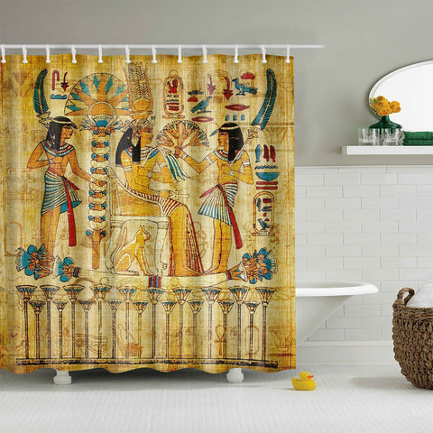 Ancient Egypt Mural Artsy Shower Curtain