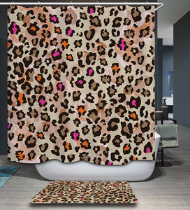 Animal Leopard Print Shower Curtain