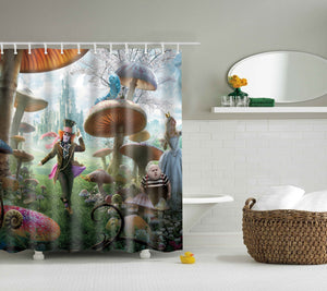 Anime Alice in Wonderland Shower Curtain | GoJeek