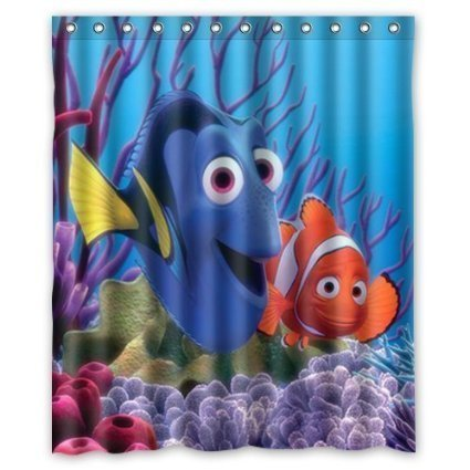 Anime Dory Finding Nemo Shower Curtain | GoJeek