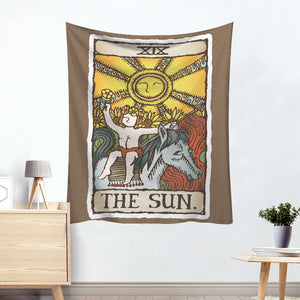 Apollo The Sun Colorful Divination Tarot Card Tapestry