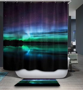 Arctic Aurora Shower Curtain