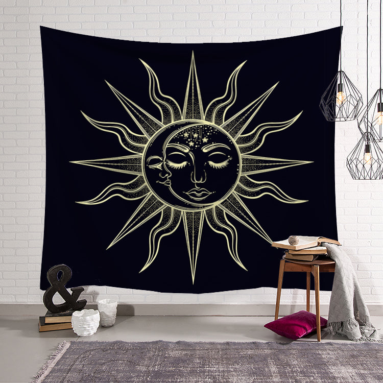 Astrological Mystical Sun Symbols Tapestry