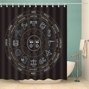 Astrology Answers Zodiac Symbols Shower Curtain