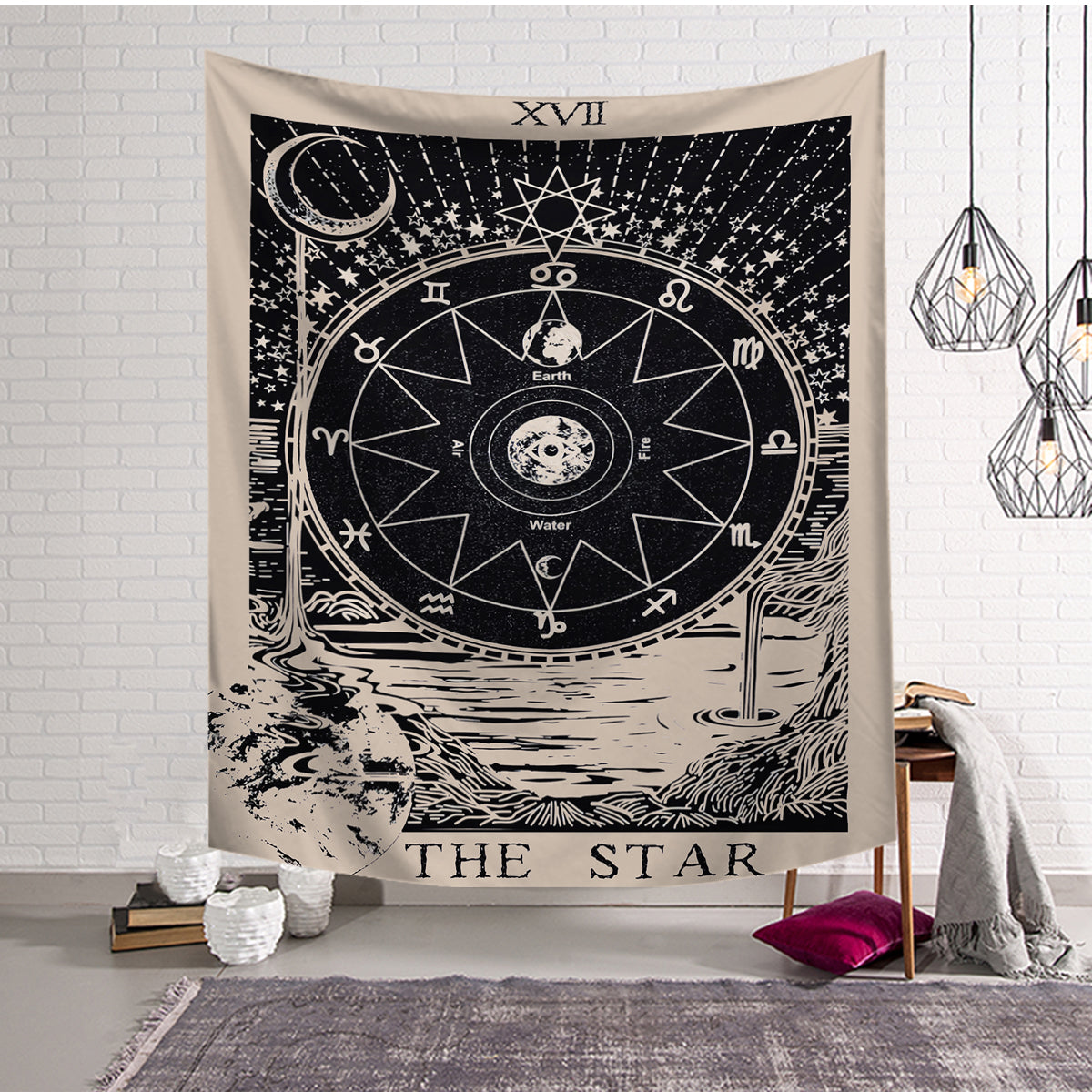 Astrology The Star Compass Tarot Tapestry