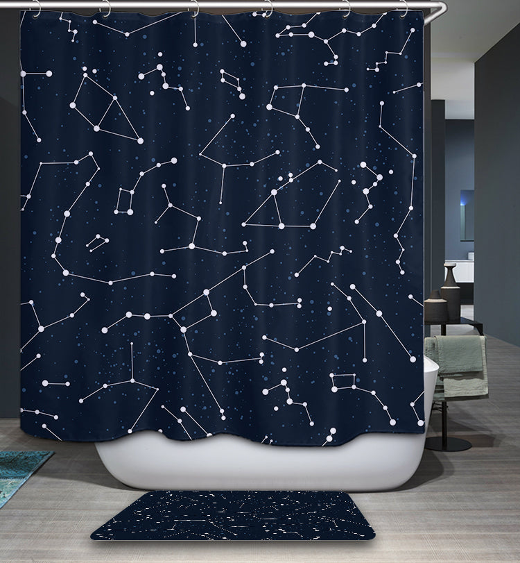 Astronomy Gifts Constellation Shower Curtain