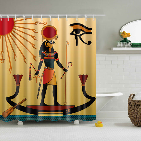 Aten and Ra Ancient Egyptian Shower Curtain