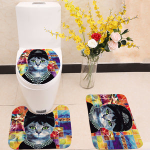 Audrey Hepburn Tiffanys Breakfast Black Cat Cosplay Toilet Seat Cover