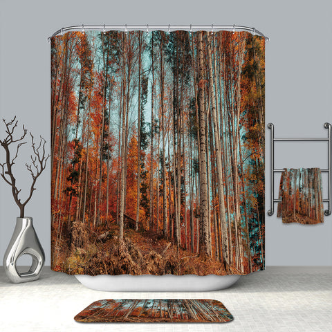 Autumn Season Beech Grove Foliage Aspen Shower Curtain