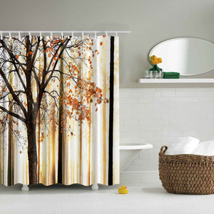 Autumn Fall Tree Maple Leafs Shower Curtain | GoJeek
