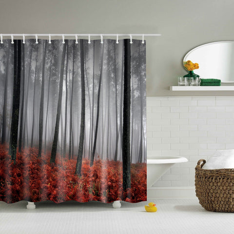 Autumn Leaves Woodland Shower Curtain