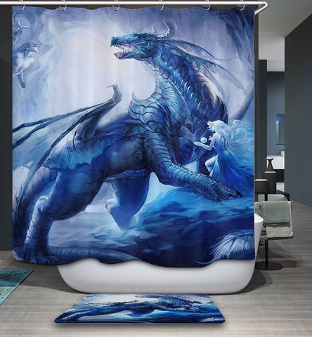 Awesome Ice Dragon Slayer Magic Shower Curtain