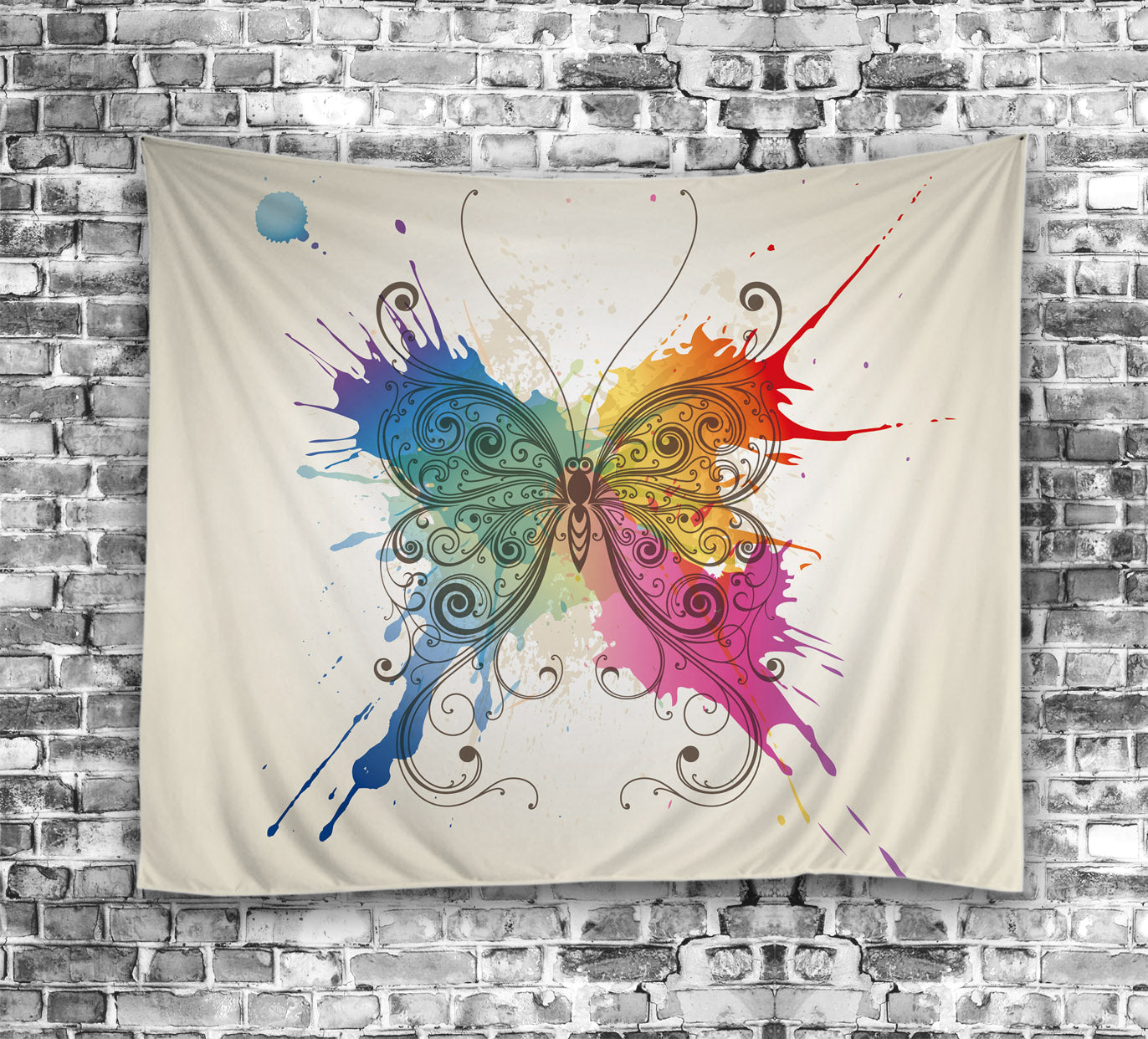 Beautiful Abstract Butterfly Clip Art Tapestry
