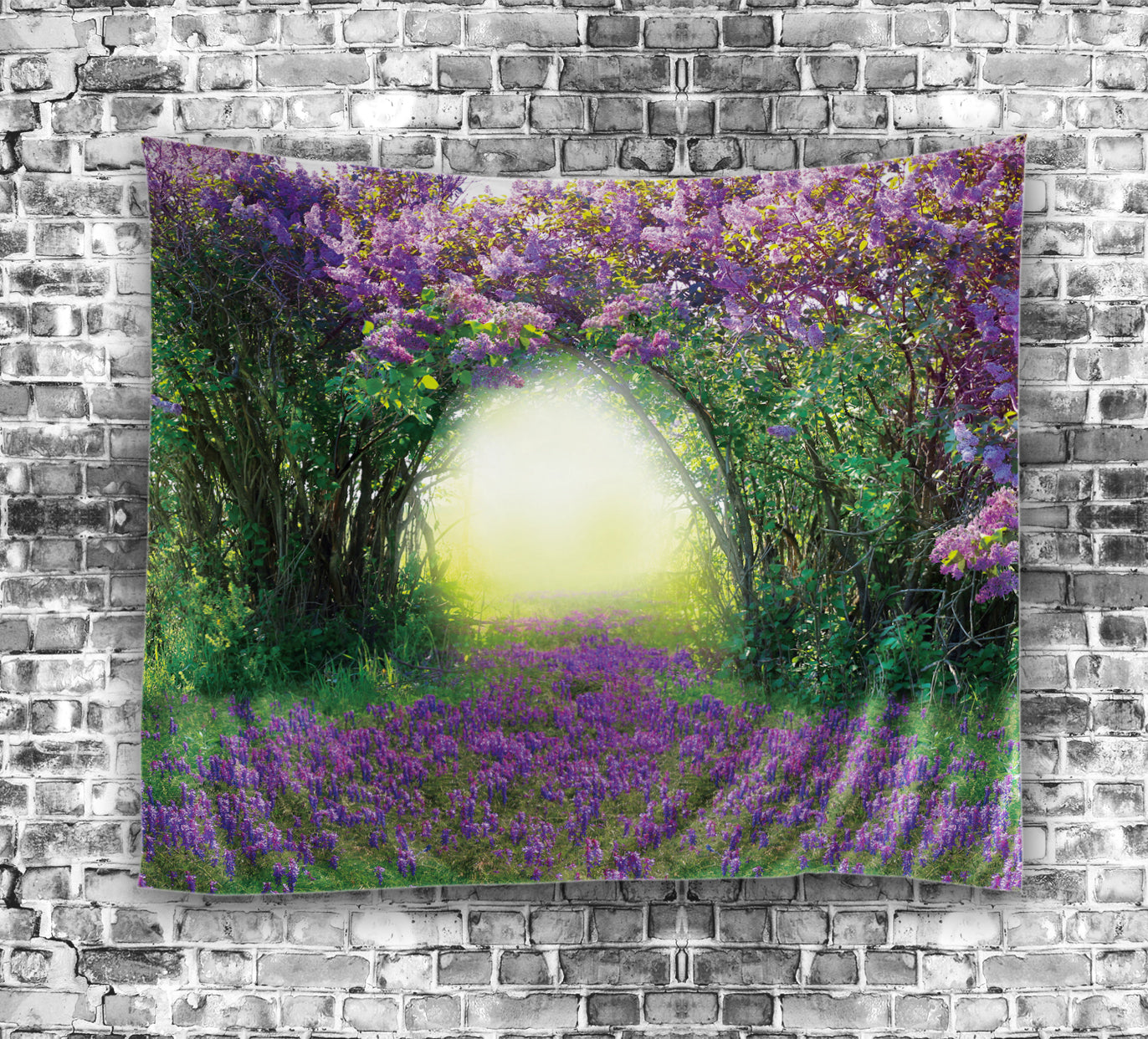 Beautiful lavender flowers arch tapestry gojeek izmirmasajfo