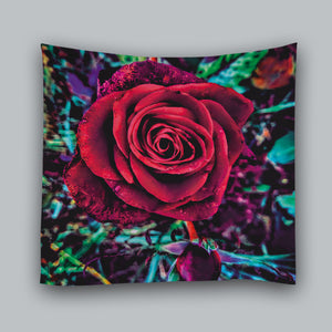 Beautiful Look Red Rose Tapestry
