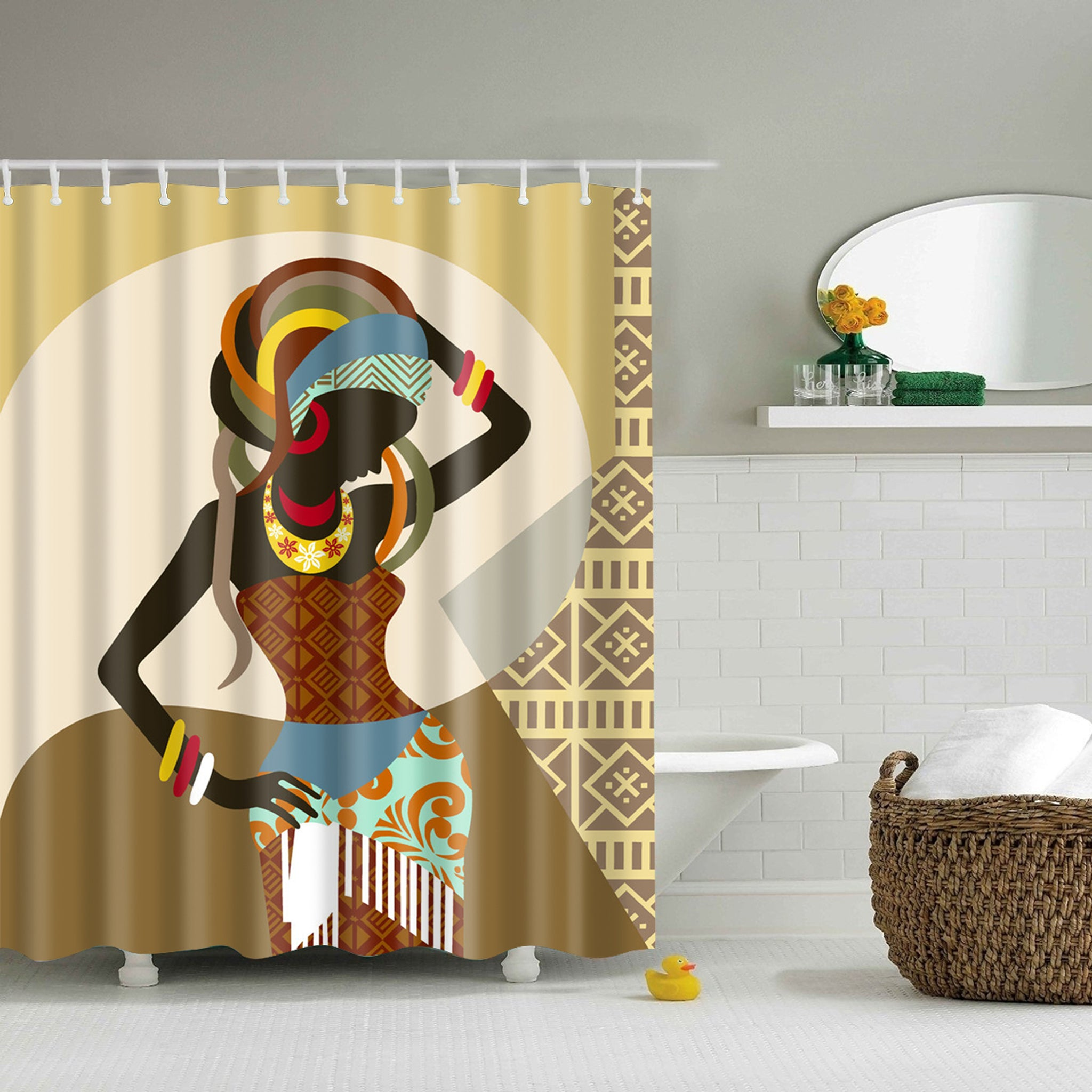 Beauty Dress Native African Women Shower Curtain | GoJeek