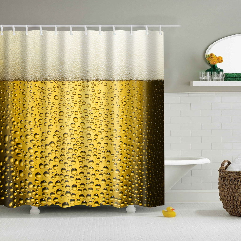 Beer O'Clock Froth Beer Shower Curtain | GoJeek