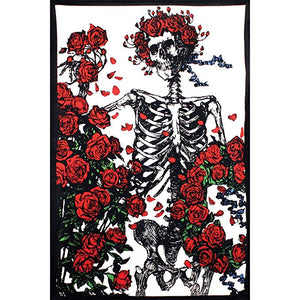 Bertha Album Grateful Dead Skeleton and Roses Tapestry