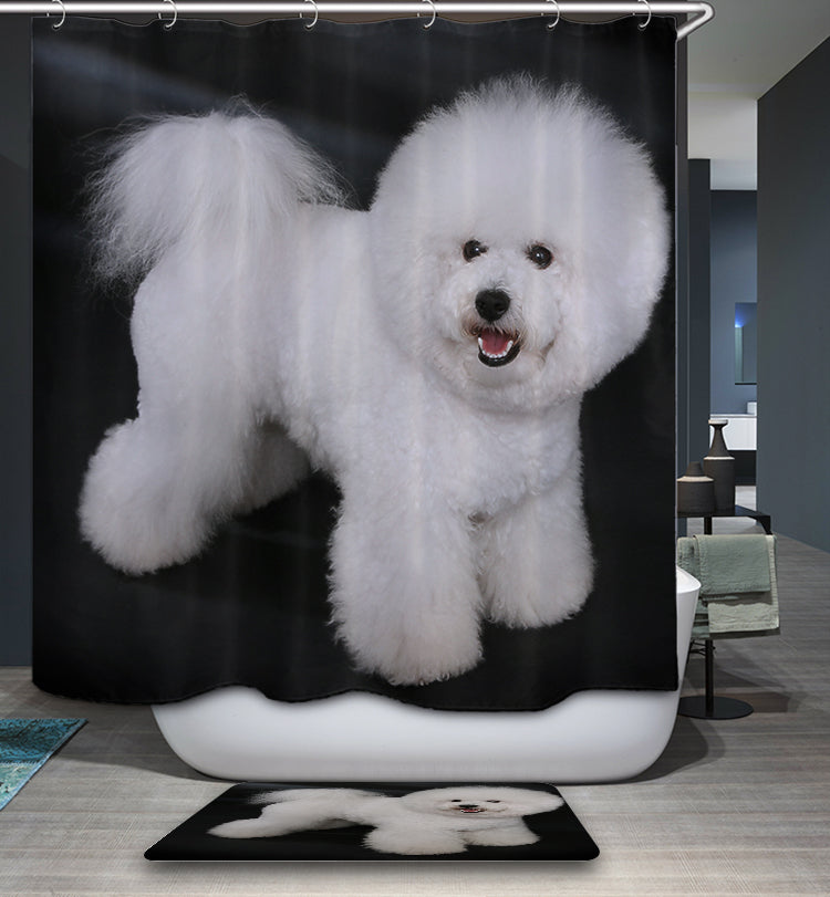 Bichon Frise Cute Puppy Shower Curtain