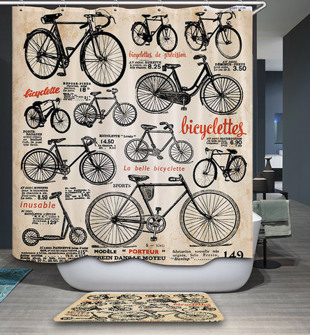 Bicycle Bike Brand Bicyclettes Shower Curtain