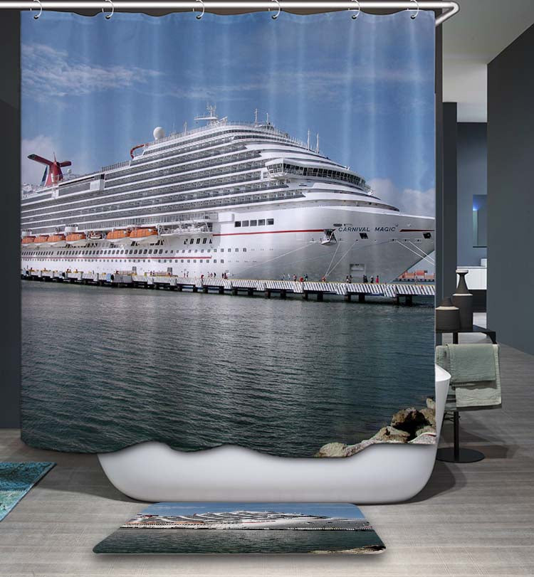 Big Carnival Cruise Ship Shower Curtain