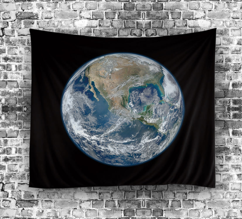 Black Backdrop The Colorful Earth Tapestry