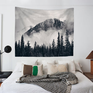 Black Forest Foggy Mountain Tapestry