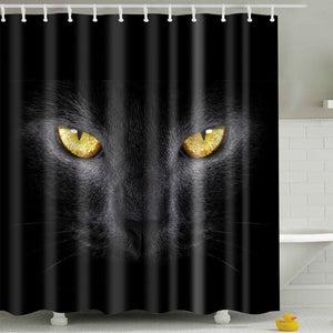 Black Wild Night Raven Face Shower Curtain | GoJeek