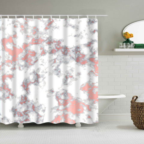 Black and Pink Marble Surface Pattern Shower Curtain
