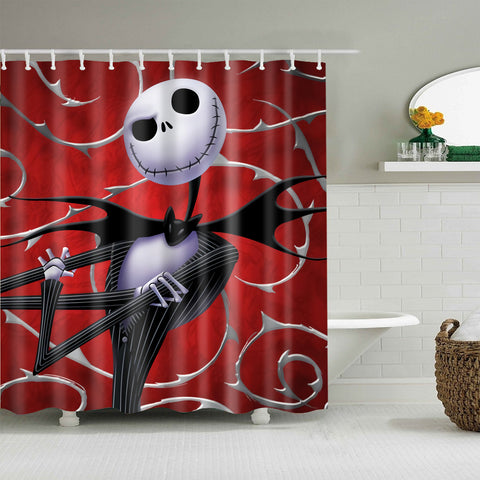 Blood Backdrop Nightmare Before Christmas Jack Skellington Shower Curtain | GoJeek