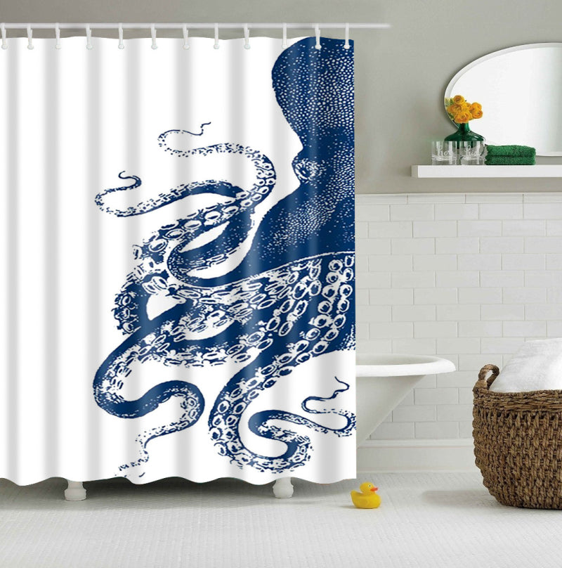 Blue Octopus Thomas Paul Shower Curtain | GoJeek