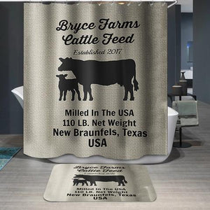 Bryce Farms Texas Cattle Feed Shower Curtain