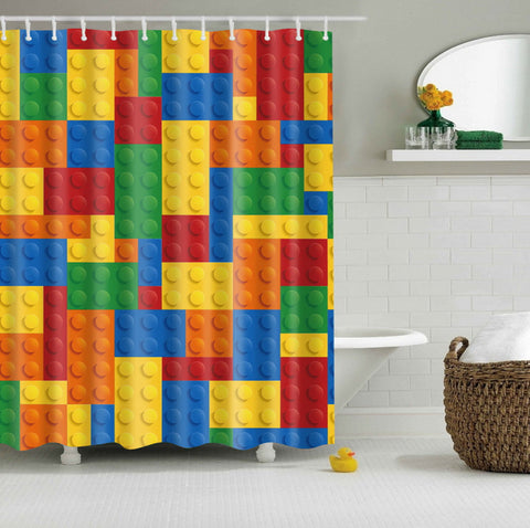 Building Blocks Lego Shower Curtain | GoJeek