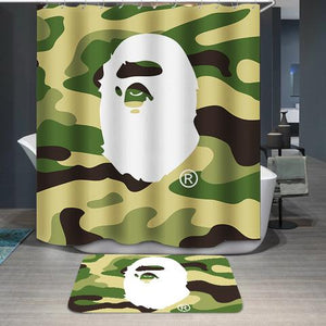 Camo BackDrop A Bathing Ape BAPE Shower Curtain