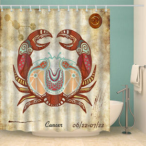 Cancer Zodiac Art Print Shower Curtain