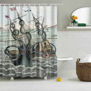 Caribbean Sea of Thieves Octopus Kraken Shower Curtain | GoJeek