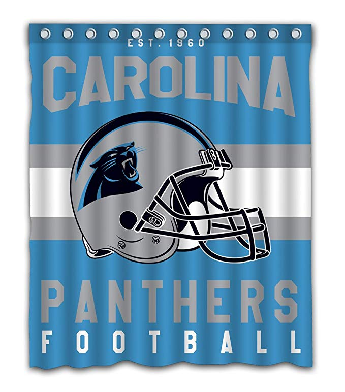 Carolina Panthers Football Helmet Shower Curtain | GoJeek