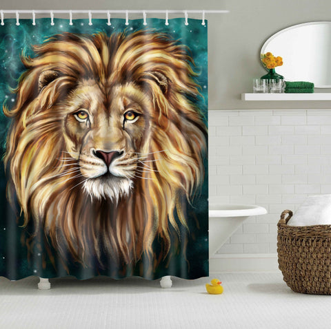 Cartoon Lion King Shower Curtain | GoJeek