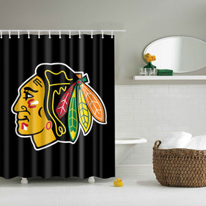 Chicago Blackhawks Shower Curtain | GoJeek
