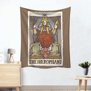Chiron The Hierophant Colorful Divination Tarot Card Tapestry