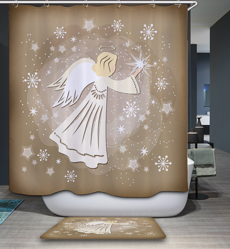 Christmas Decoration Angel Shower Curtain